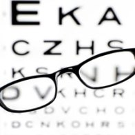 Blurred eye chart