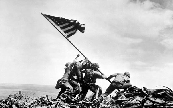Flag at Iwo Jima