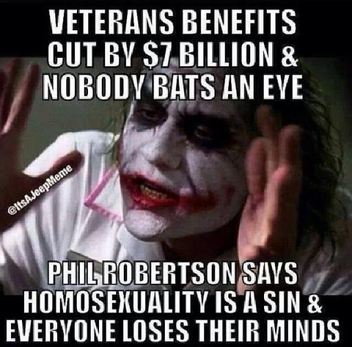 Benefits cut for military