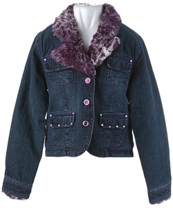 Jacket with rhinestones and fur