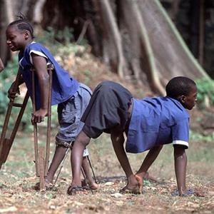 African children with polio