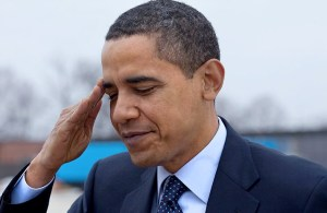 Obama-saluting
