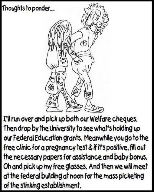 Hippies on handouts