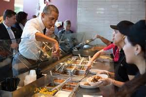 Obama orders a Chipotle burrito
