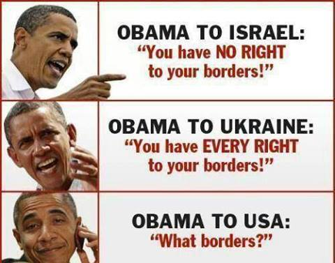 Obama on borders theirs and ours