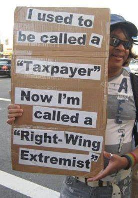 Taxpayers are right wing extremists