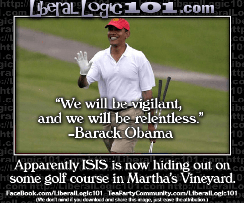 ISIS hiding on the golf course