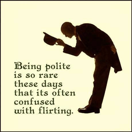 Being polite versus flirting