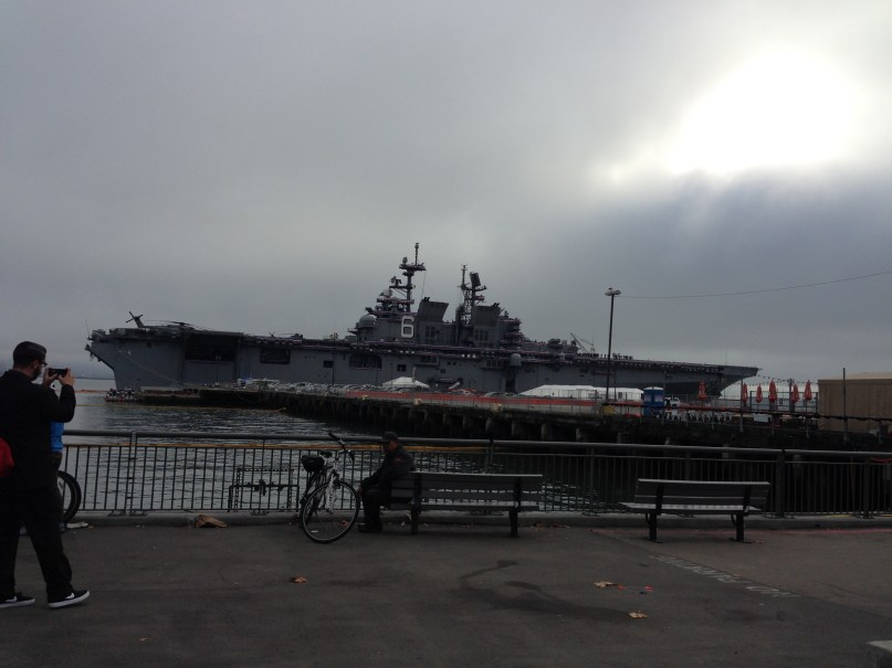 USS America on October 11, 2014, the day of her commissioning