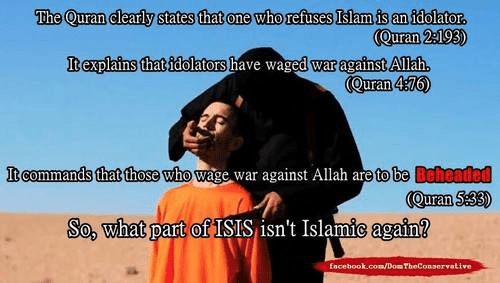 Islam demands beheading