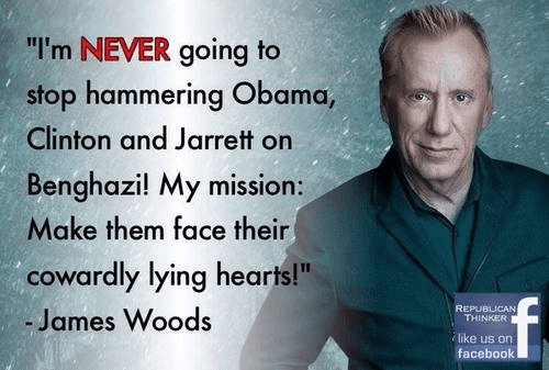 James Woods won't give up on Benghazi