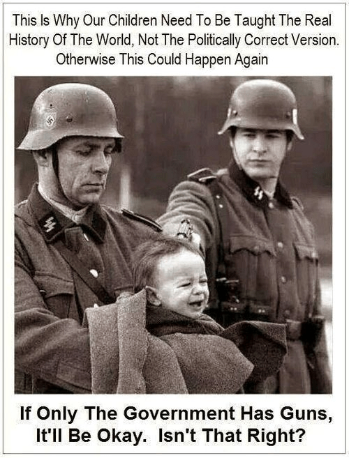 The Nazi government used guns to kill babies