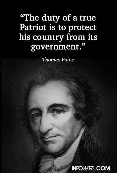 Thomas Paine patriots protect country from government