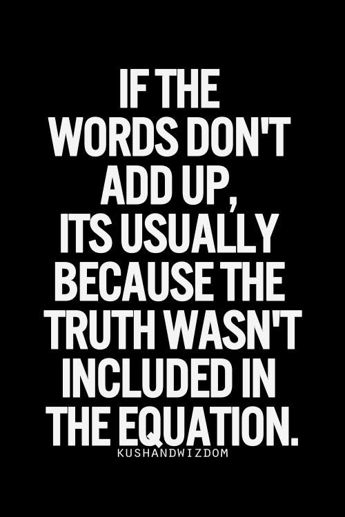 Truth wasn't included in the equation