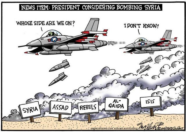 Whose side are we on in bombing Syria