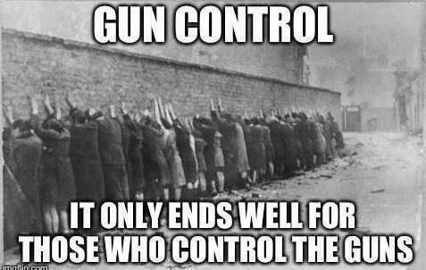 gun control ends well for those controlling guns