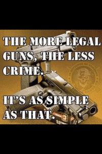 More legal guns less crime