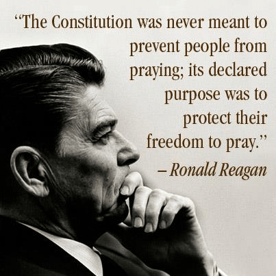 Ronald Reagan on the right to pray