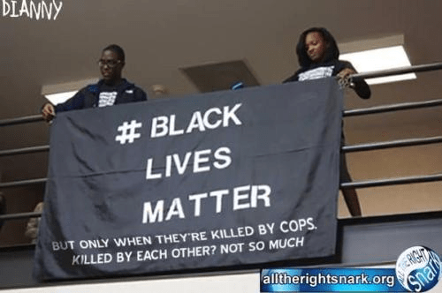 Black lives matter except when they kill each other
