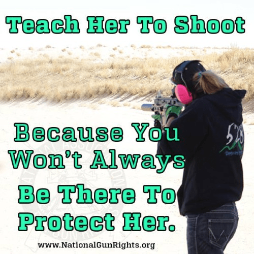 Girls should learn to shoot to protect themselves