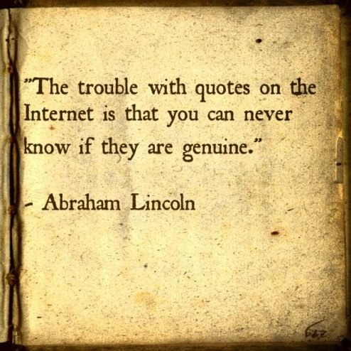 Lincoln on internet quotations