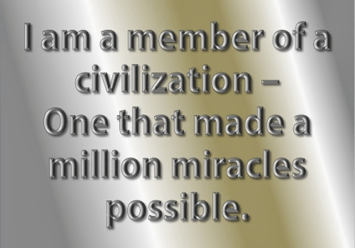 Member of a civilization that made miracles