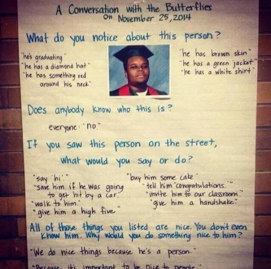 Poster memorializing Michael Brown