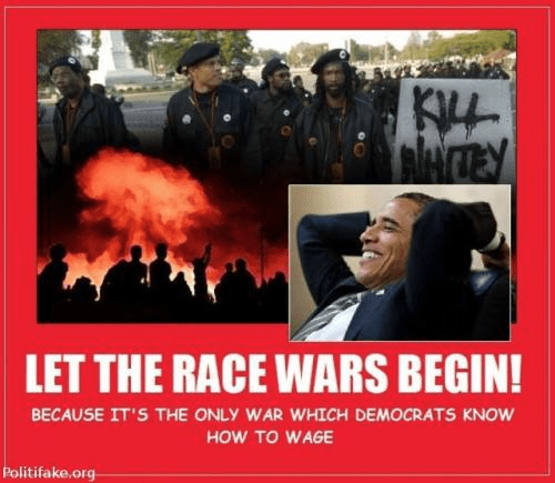Race wars are the only ones Democrats fight