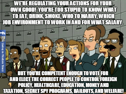 Your too stupid to make decisions but smart enough to vote for decision makers