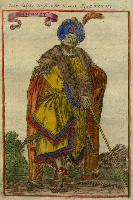 18th century German picture of Mohamed