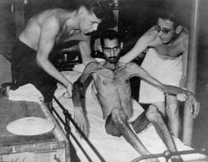 A survivor of a Japanese concentration camp