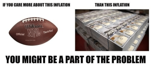 Americans more concerned about football inflation than economic inflation