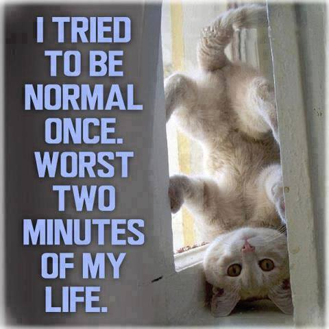 Being normal worst two minutes of life