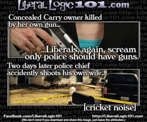 Liberals, guns, and police shootings