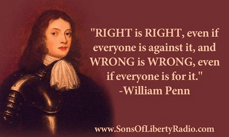 Right and wrong are absolute regardless of majority ideas