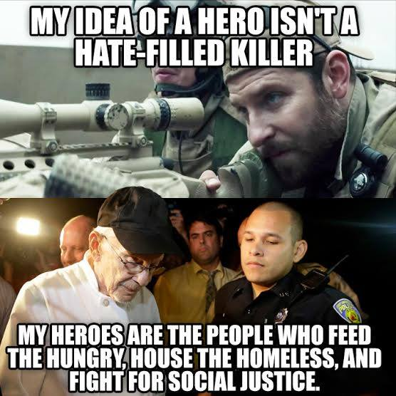 Stupid Leftists don't understand heroes