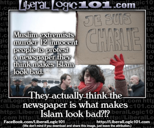 They actually think the newspaper makes Islam look bad