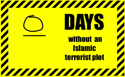 zero days without an islamic terrorist plot