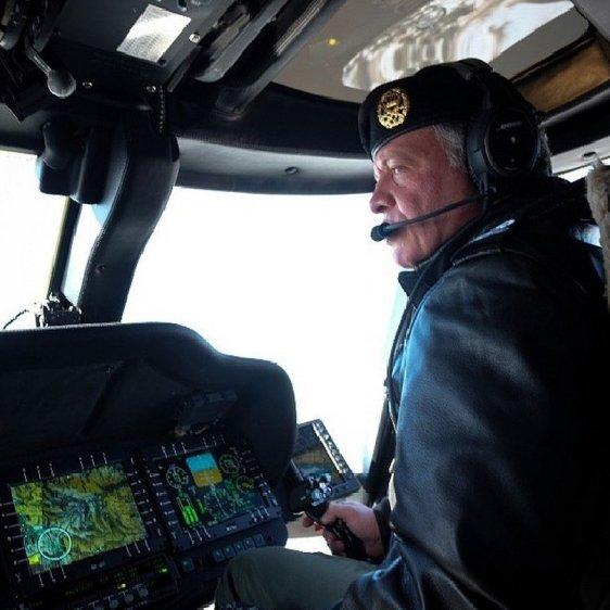 Abdullah at the controls
