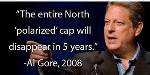 Al Gore predicting demise of North Pole