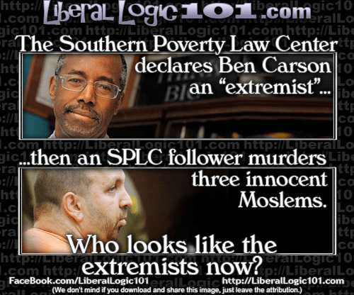 Ben Carson southern poverty law center extremists