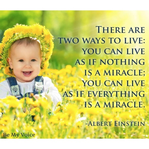 Einstein everything is a miracle or nothing is