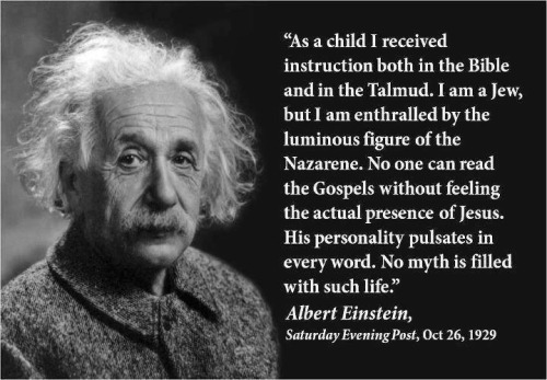 Einstein on Jesus