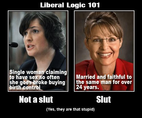 Liberals call Palin a slut but not Fluck