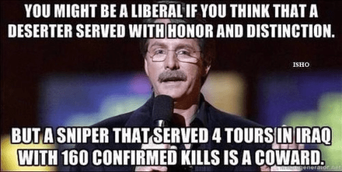Liberals on Bowe Bergdahl and Chris Kyle