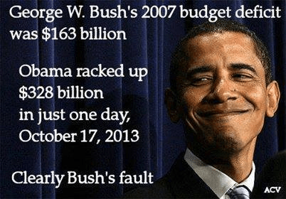 Obama racked up more deficit in a day than Bush did in 8 years