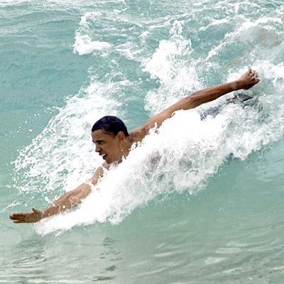 Obama's grace in the water