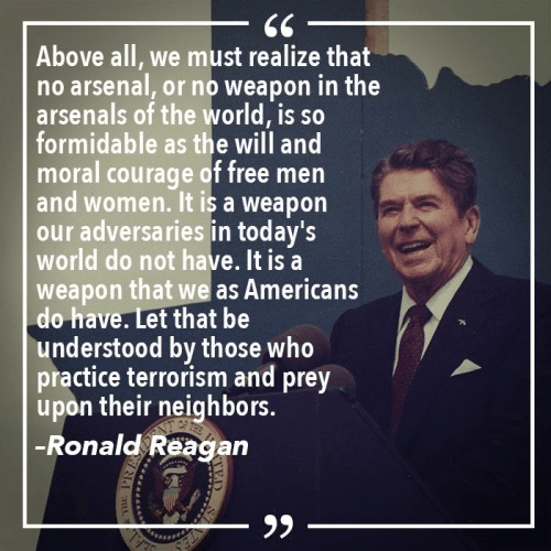 Reagan - America's moral courage strongest weapon of all