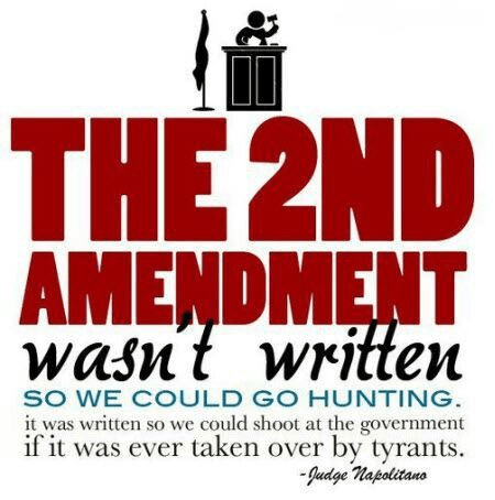 Second Amendment written to take down tyrants
