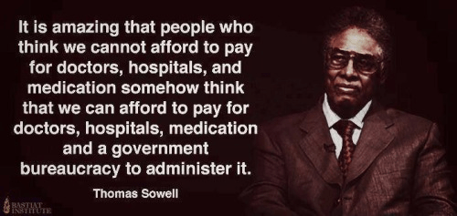 Sowell on crazy claims of Obamacare
